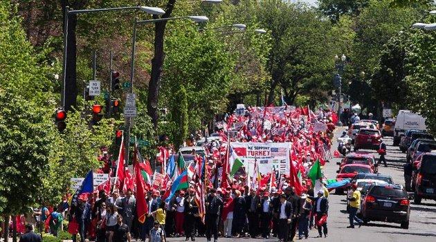 ABD'de Ermeni iddialarına karşı Türkiye'ye destek yürüyüşü düzenlendi