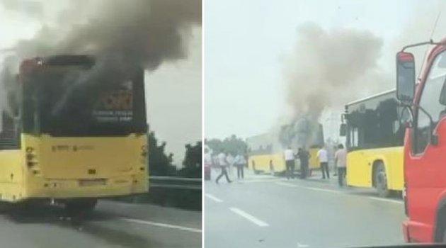 İETT otobüsünde yangın paniği