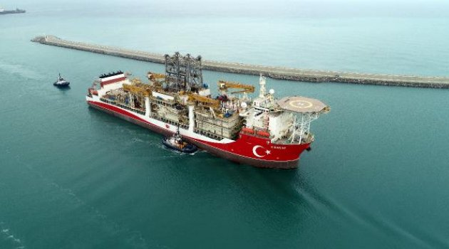 Sondaj gemisi 'Kanuni' Zonguldak'ta