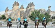 Kapadokya'da turistlerin güvenliği atlı birliklere emanet